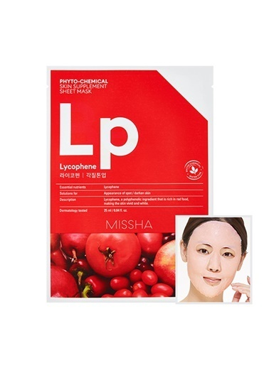 Missha Phytochemical Skin Supplement Sheet Mask (Laycophene/Peeling Tone Up) Renksiz